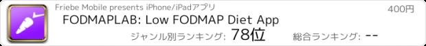 おすすめアプリ FODMAPLAB: Low FODMAP Diet App
