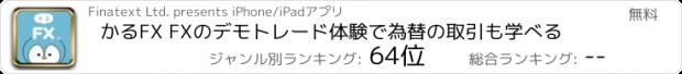 おすすめアプリ かるFX - FXを楽しく学べるFX アプリ