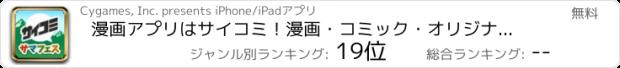 おすすめアプリ サイコミ-Cycomics-【Cygamesのマンガが全話読み放題】