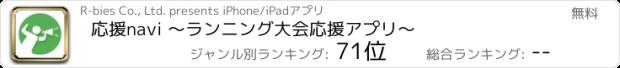 おすすめアプリ 応援navi 〜ランニング大会応援アプリ〜
