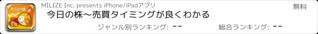 おすすめアプリ 今日の株〜売買タイミングが良くわかる