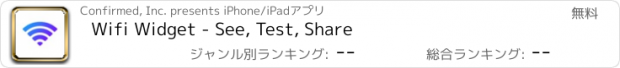 おすすめアプリ Wifi Widget - See, Test, Share