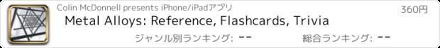 おすすめアプリ Metal Alloys: Reference, Flashcards, Trivia