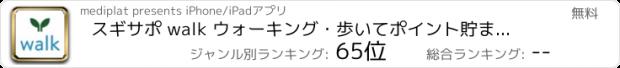 おすすめアプリ スギサポ walk :歩数記録&スギポイント獲得!?