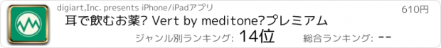 おすすめアプリ 耳で飲むお薬® by meditone® プレミアム