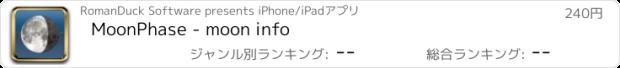 おすすめアプリ MoonPhase - moon info