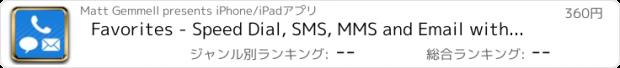 おすすめアプリ Favorites - Speed Dial, SMS, MMS and Email with Photos