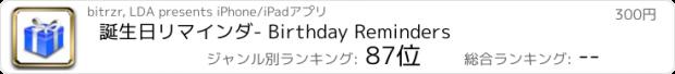 おすすめアプリ 誕生日リマインダ - Birthday Reminders