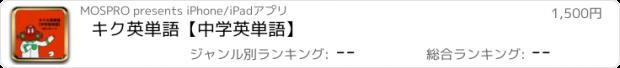 おすすめアプリ キク英単語【中学英単語】
