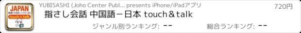 おすすめアプリ 指さし会話 中国語-日本 touch&talk