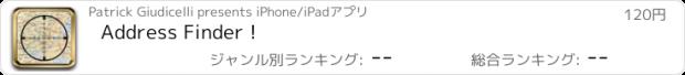 おすすめアプリ Address Finder !