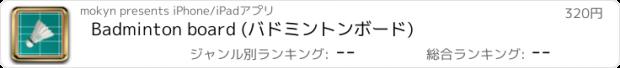 おすすめアプリ Badminton board (バドミントンボード)