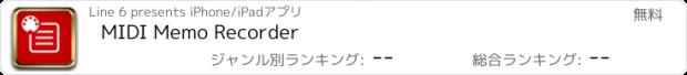 おすすめアプリ MIDI Memo Recorder