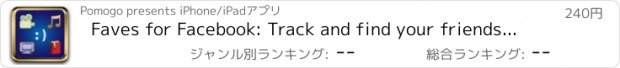 おすすめアプリ Faves for Facebook: Track and find your friends' favorite movies, songs, and books!
