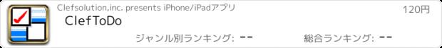 おすすめアプリ ClefToDo