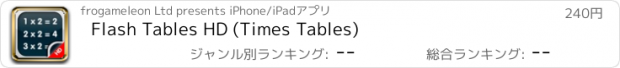 おすすめアプリ Flash Tables HD (Times Tables)
