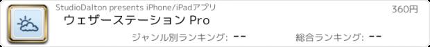 おすすめアプリ ウェザーステーション Pro