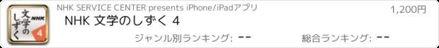 おすすめアプリ NHK 文学のしずく 4