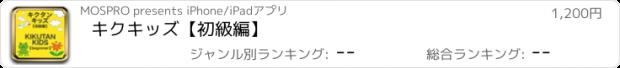 おすすめアプリ キクキッズ【初級編】