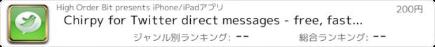 おすすめアプリ Chirpy for Twitter direct messages - free, fast text messaging (SMS) powered by Twitter