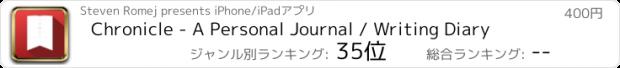 おすすめアプリ Chronicle - A Personal Journal / Writing Diary