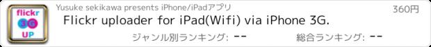 おすすめアプリ Flickr uploader for iPad(Wifi) via iPhone 3G.