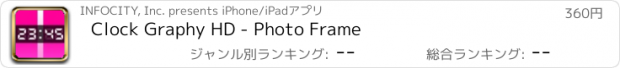 おすすめアプリ Clock Graphy HD - Photo Frame