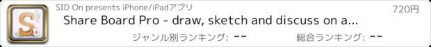 おすすめアプリ Share Board Pro - draw, sketch and discuss on a pad!