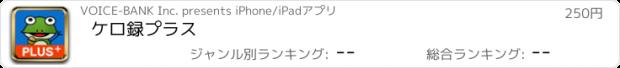 おすすめアプリ ケロ録プラス