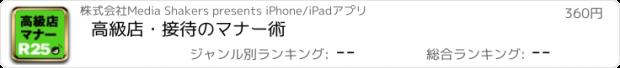 おすすめアプリ 高級店・接待のマナー術