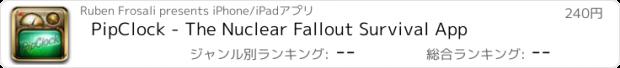 おすすめアプリ PipClock - The Nuclear Fallout Survival App