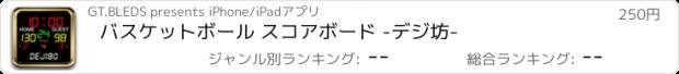おすすめアプリ バスケットボール スコアボード -デジ坊-