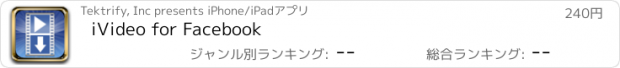 おすすめアプリ iVideo for Facebook