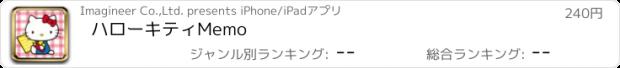 おすすめアプリ ハローキティMemo