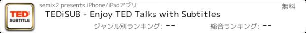 おすすめアプリ TEDiSUB - Enjoy TED Talks with Subtitles