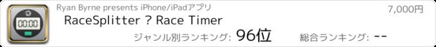 おすすめアプリ RaceSplitter — Race Timer