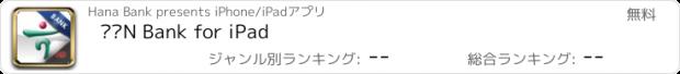 おすすめアプリ 하나N Bank for iPad
