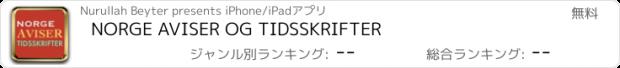 おすすめアプリ NORGE AVISER OG TIDSSKRIFTER