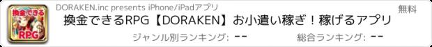 おすすめアプリ 換金できるRPG【DORAKEN】お小遣い稼ぎ!稼げるアプリ