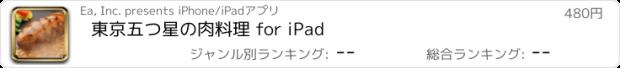 おすすめアプリ 東京五つ星の肉料理 for iPad