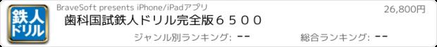おすすめアプリ 歯科国試鉄人ドリル 完全版6500