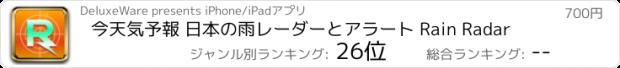 おすすめアプリ 今天気予報 日本の雨レーダーとアラート Rain Radar