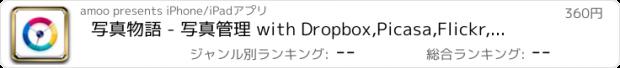 おすすめアプリ 写真物語 - 写真管理 with Dropbox,Picasa,Flickr,Evernote