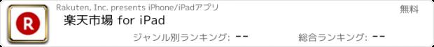 おすすめアプリ 楽天市場 for iPad