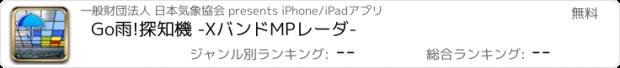 おすすめアプリ Go雨!探知機 -XバンドMPレーダ-