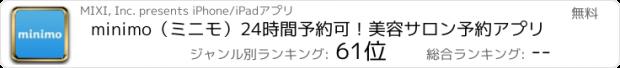 おすすめアプリ minimo(ミニモ)/サロン予約