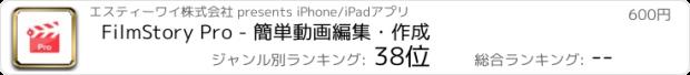 おすすめアプリ FilmStory Pro - ムービー作成&動画編集&動画