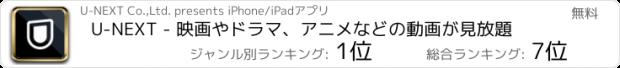 おすすめアプリ U-NEXT