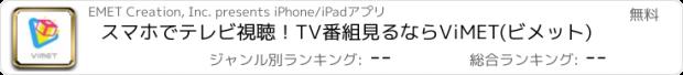 おすすめアプリ スマホでテレビ視聴!TV番組見るならViMET(ビメット)