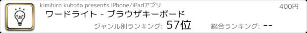 おすすめアプリ ワードライト - 日本語・類語キーボード